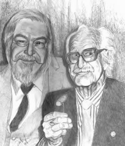 ダイ・バーノン(右)とラリー・ジェニングス(左)(1989年)